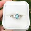 1.73ctw Blue Marquise Cut Diamond Trilogy Ring 12