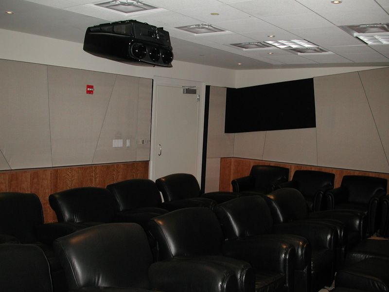 The projector on the ceiling was $50,000.  Very nice one.  All the seats were super comfy leather.