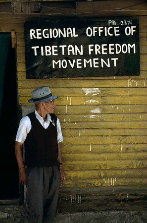 "Former Khampa Guerrilla at 'Regional Office of Tibetan Freedom Movement""."