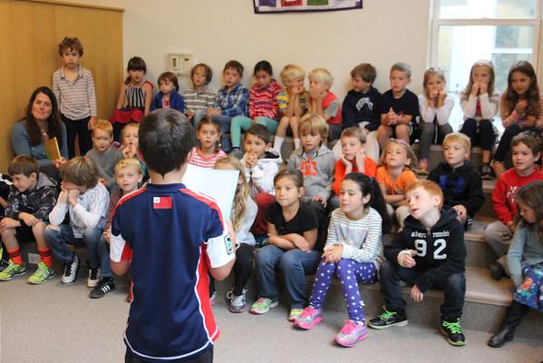 Second Grade Presentations at Lower School Meeting