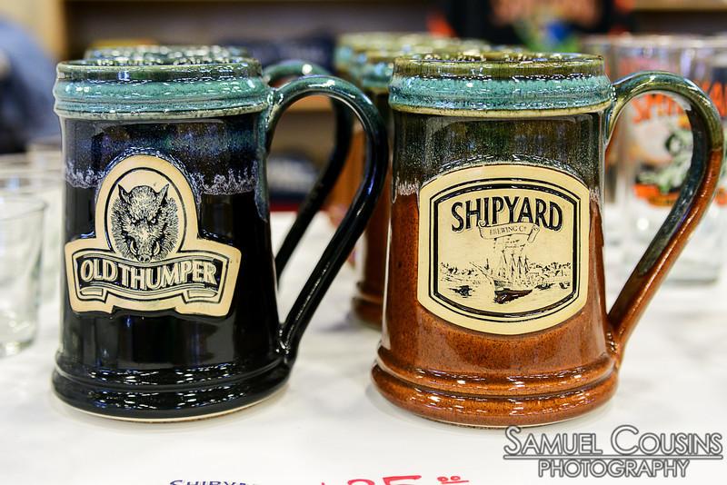 Shipyard and Old Thumper mugs.