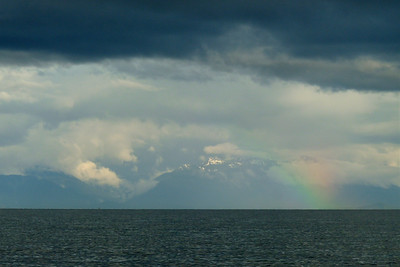 DAY 181 - June 30, 2011 - Rainbow and Admiralty Island Cynthia Meyer, Icy Strait, Alaska