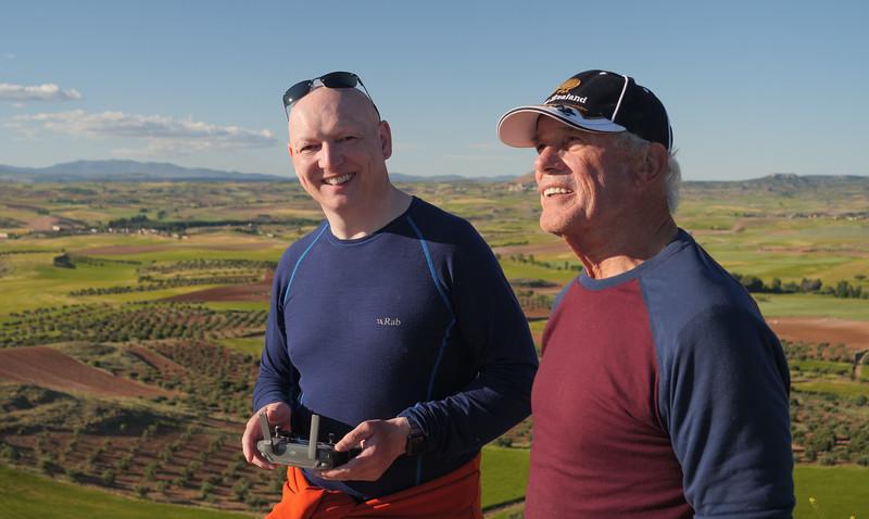 Kev and Vic at the summit of 'Mini Moo'