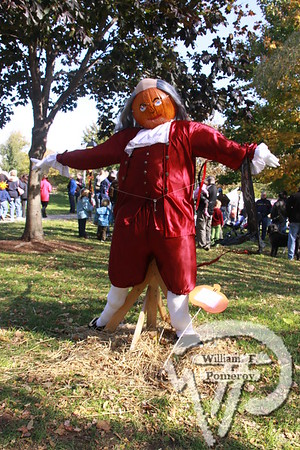 KATE GOULD PARK — pumpkin people in the park — Chatham, MA 10 . 23 - 2010