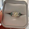 2.10ct Art Deco Peruzzi Cut Diamond Ring, GIA W-X SI2 8