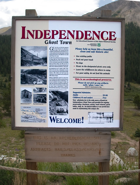 Welcome to Independence Pass at 12,108 feet above sea level