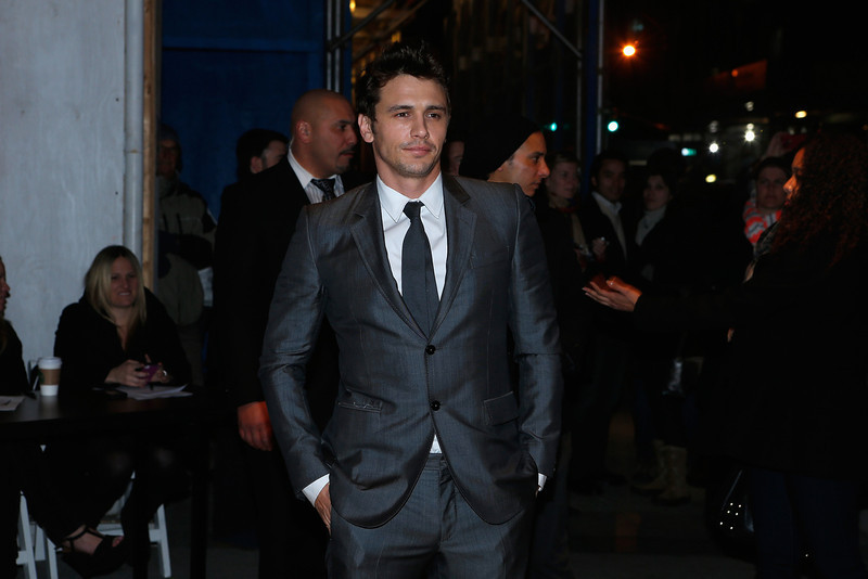 ". Actor James Franco arrives at the Gucci and The Cinema Society screening of ""Oz the Great and Powerful\"" at the DGA Theater on March 5, 2013 in New York City.  (Photo by Jemal Countess/Getty Images)"