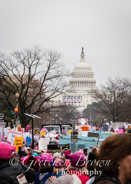Woman's March, Washington DC.  January 21, 2017.