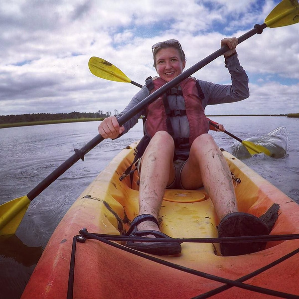 Audrey carves up the Assateague Channel in search of the wild ponies. Even better, we took our kayaks on a detour through the high grass back channels so we could get up close. A little bit of adventure on the Eastern Shore between Maryland and Virginia. via Instagram http://ift.tt/1NFOFhI