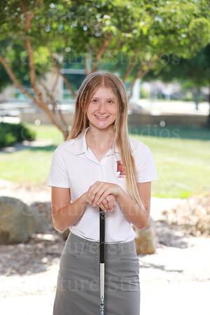 2019 Girls Golf Banner portraits