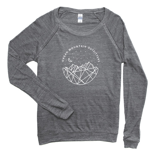 Outdoor Apparel - Organ Mountain Outfitters - Womens - Astro Nights Slouchy Pullover Grey.jpg