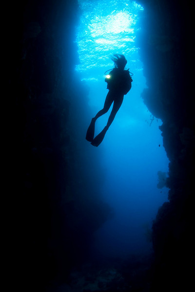 A diver in a cave (award winning image)