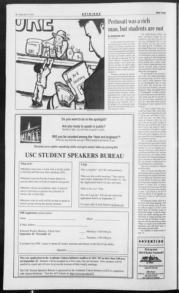 Daily Trojan, Vol. 153, No. 11, September 08, 2004