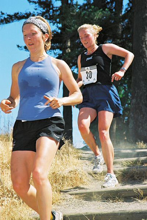 2003 Gutbuster Mount Doug - Claire Townsend and Rebecca Chisholm finished 1st and 2nd