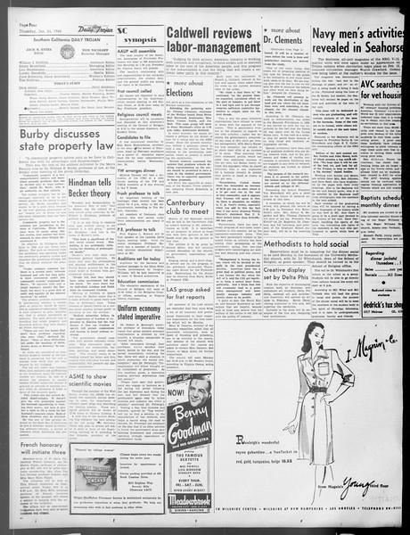 Daily Trojan, Vol. 37, No. 56, January 24, 1946