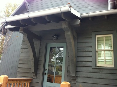 Front Porch with Custom Rough Bracket