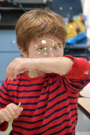 Kindergartners Enjoy Some Very Bubbly Science Classes