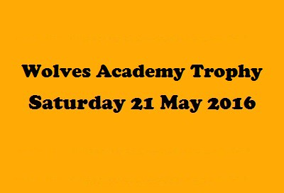 ACADEMY TOURNAMENT - 21 May 2016