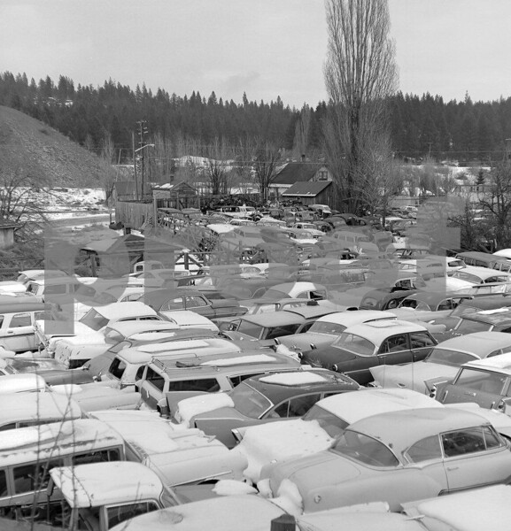 Lots of old junk cars in Roslyn on Feb. 14, 1973.