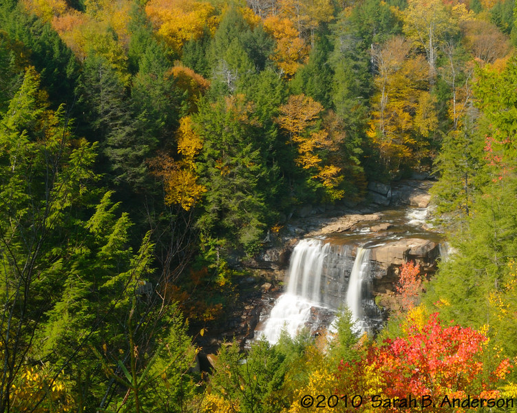 Blackwater Falls and fall colors Blackwater Falls State Park, WV thousands have taken this photo and now so have I.  October 2010 Nikon D300, Nikon 18-200 vr