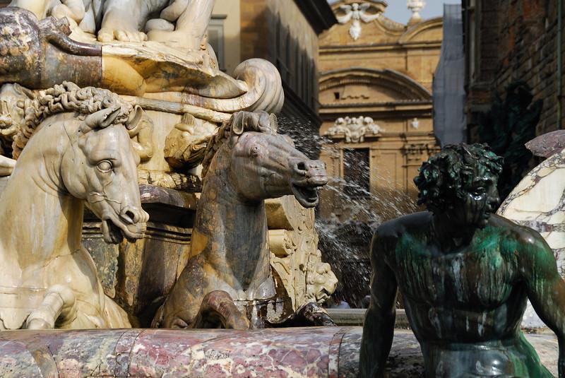 Neptune's Horses in the Plaza de la Signoria, Florence