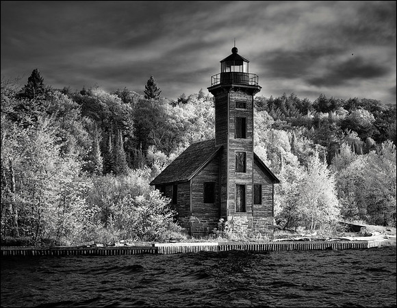Lake Superior Infrared B&W