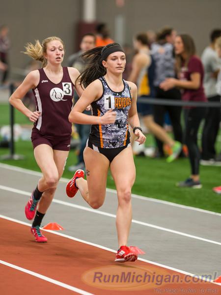 WHAC Indoor 2016 - One  Mile Run Women