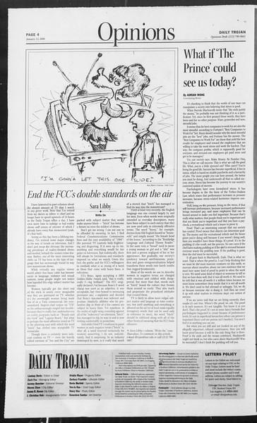 Daily Trojan, Vol. 157, No. 3, January 12, 2006