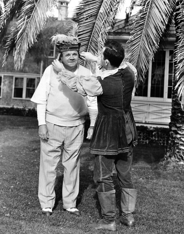 . The mighty Babe Ruth of home run fame has been known as the Sultan or King of Swat for so long that the townspeople of St. Augustine, Fla., thought it needed streamlining in an undated photo. (AP Photo)