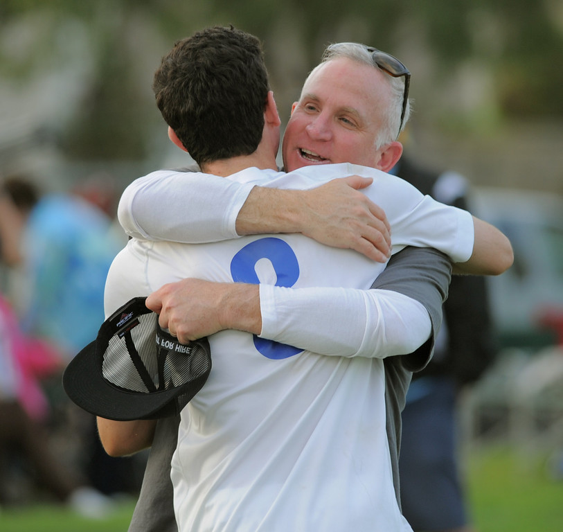 . 02-15-2012--(LANG Staff Photo by Sean Hiller)- Los Alamitos beat Buena 4-1 in the first round of the Division 1 boys soccer playoffs Friday at Laurel School in Los Alamitos.
