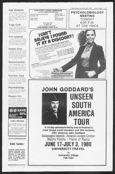 Daily Trojan, Vol. 87, No. 48, November 28, 1979