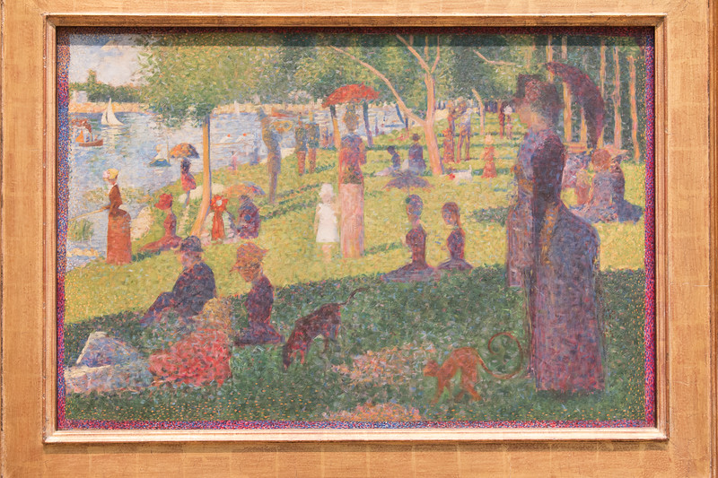 "Georges Seuret, Study for ""A Sunday on La Grande Jatte"" (1884) [Original at Art Institue of Chicago, of course) -- Metropolitan Museum of Art, New York"