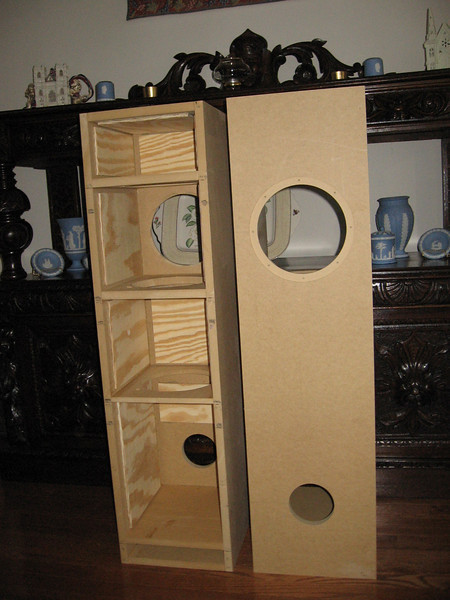 Interior of the Brines Acoustics TT-2000 MLTL.