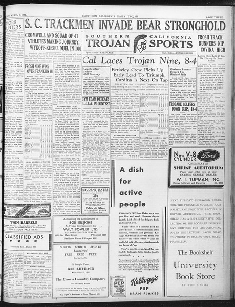 Daily Trojan, Vol. 23, No. 116, April 01, 1932