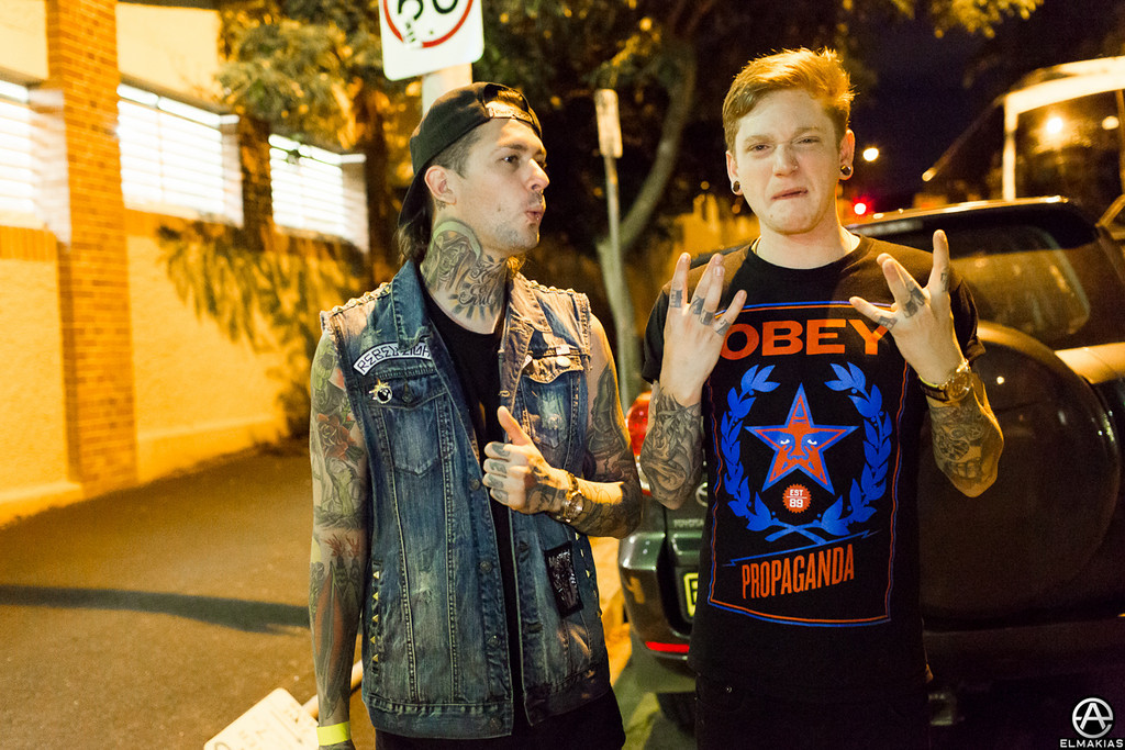 Mike Fuentes of Pierce The Veil and Justin 'dis my gang' Trotta