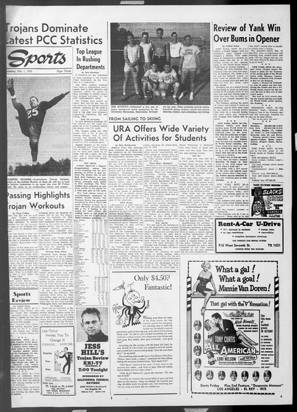 Daily Trojan, Vol. 45, No. 9, October 01, 1953