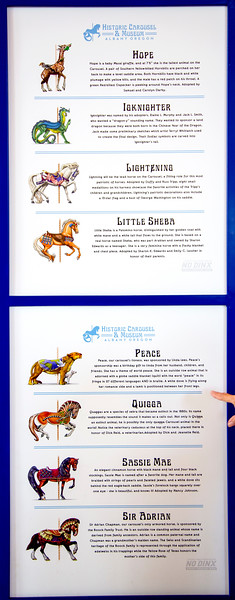 """Stories behind many of the Carousel """"horses"""""""