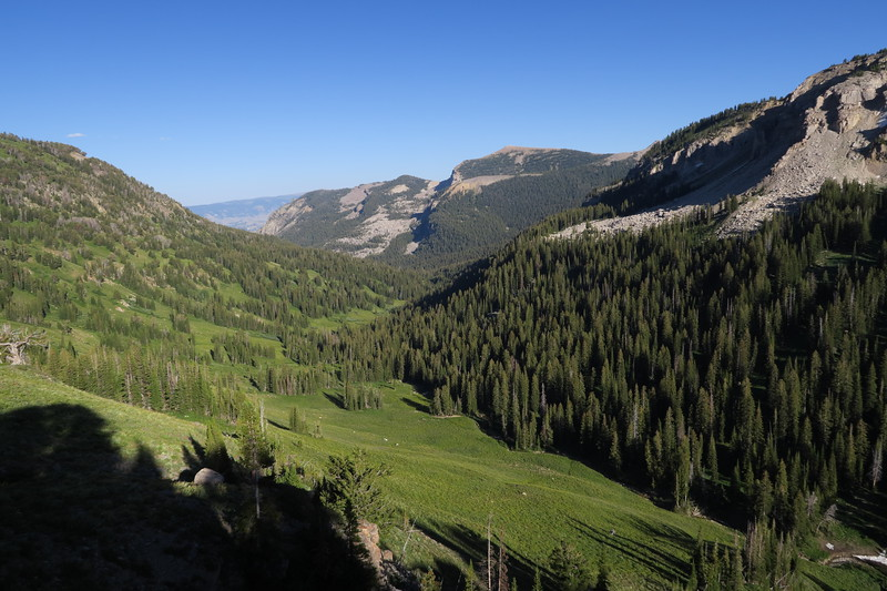 Looking back down Granite Canyon