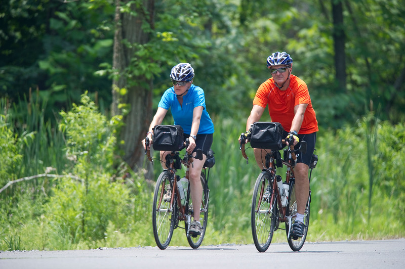Rob and Kim Richer on the CIA Memorial Ride to raise funds for the families of fallen CIA Officers. (Photo credit: Greg E. Mathieson – MAI Photo)