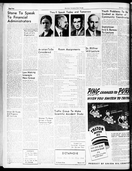 Southern California Daily Trojan: U.S.C. Institute of Government, Vol. 5, No. 1, June 13, 1938