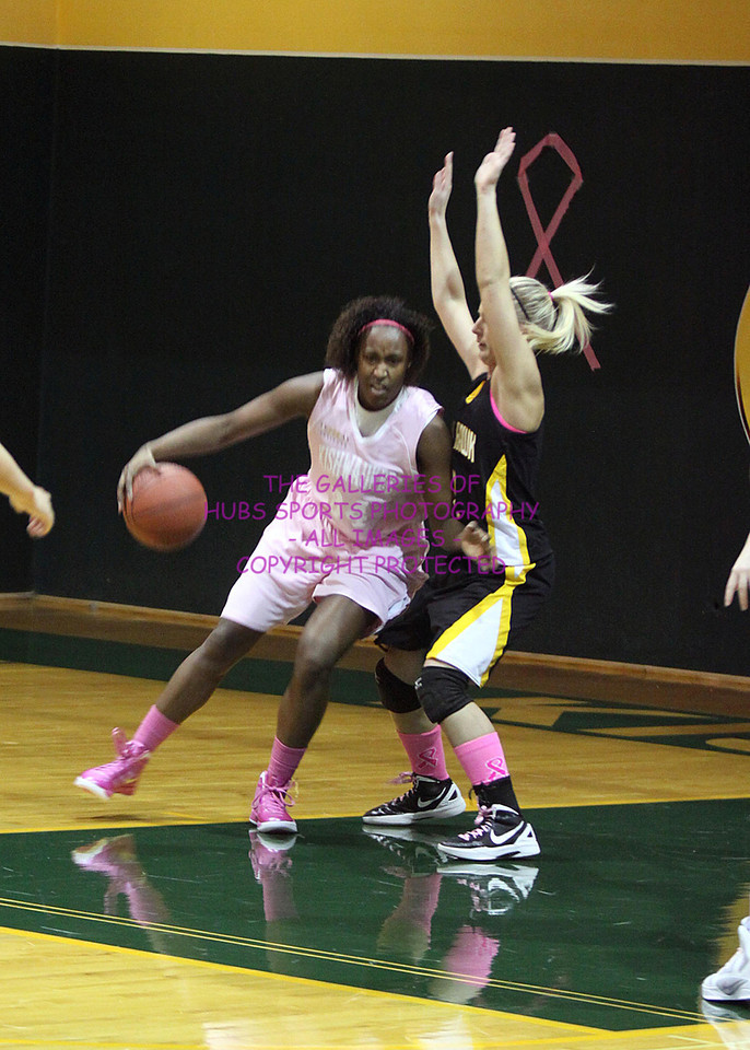 2012 KISHWAUKEE COLLEGE WOMENS BASKETBALL vs BLACKHAWK + THINK PINK