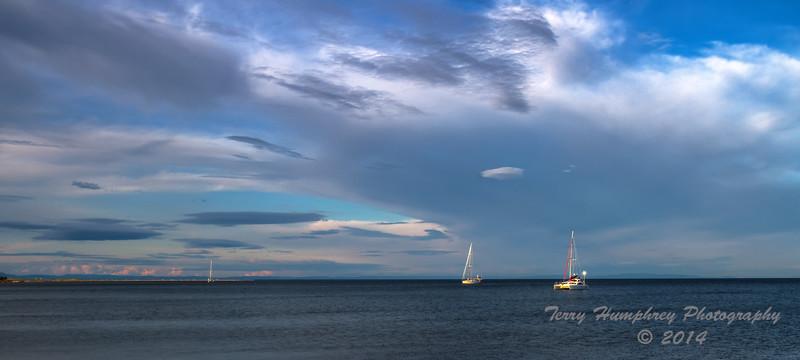 Sailboats at the Point