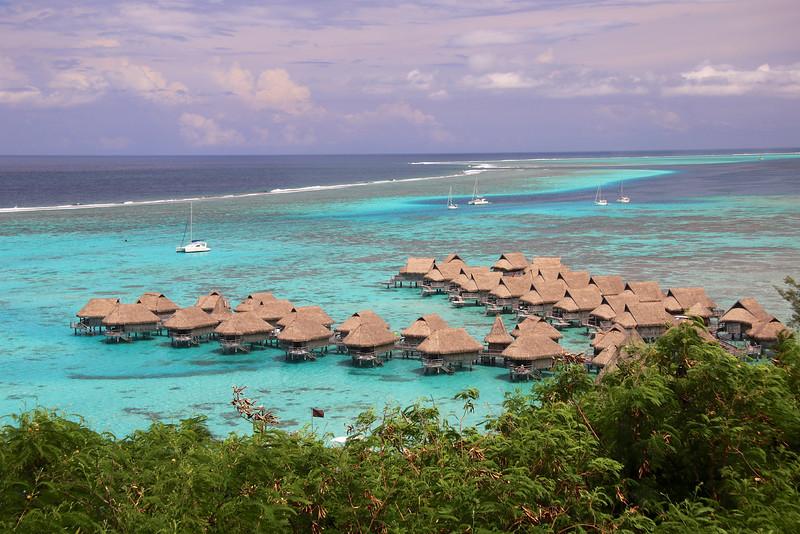 View of the Sofitel Resort - Mo'orea