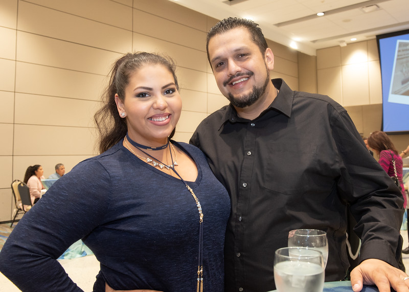 Githzette Planas (left) and Victor Breunig during the Fall 2018 Distinguished Speaker Series VIP Reception.
