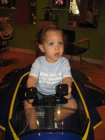 Evan's First Haircut