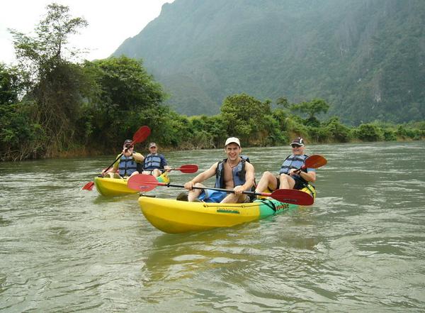 Kayaking in Vang Vieng