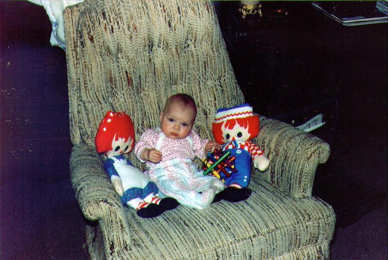 Alina with Raggedy Ann & Andy, 1992, .jpg