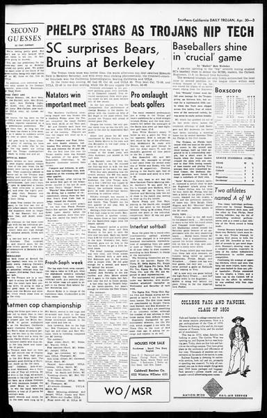 Daily Trojan, Vol. 36, No. 111, April 30, 1945