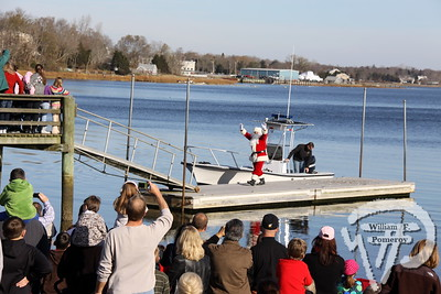 ORLEANS YACHT CLUB — santa by boat arrival . . . upon town cove — Orleans, MA 11 . 26 - 2011