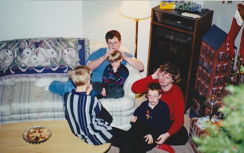 Jeff, Michael, Matt, Drew - Xmas 1998